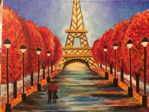 Eiffel Tower in Fall
