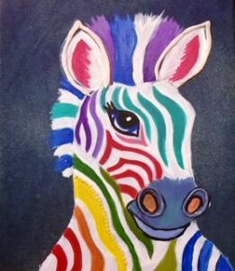 Colorful zebra 2