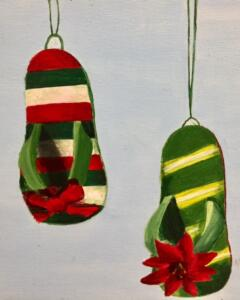 Christmas design slippers 1