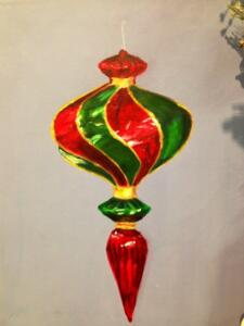 Red, green & gold ornament