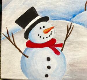 Single snowman with hat