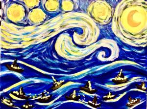 Starry Night Over the Sea