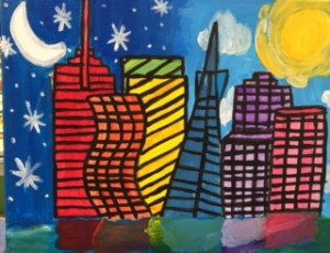 Colorful SF Skylines, abstract