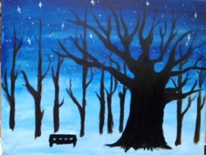 Stars over the orchard
