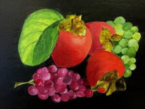Grapes &  persimmons 2
