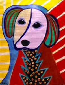 Dog in abstract