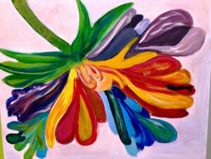 Colorful abstract flower