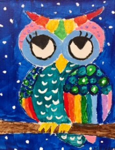 new colorful owl