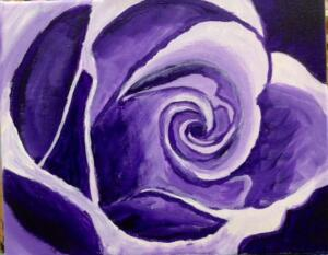 purple rose, abstract