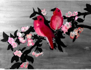 red-birds-on-gray-background