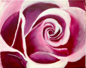 rose painting, abstract