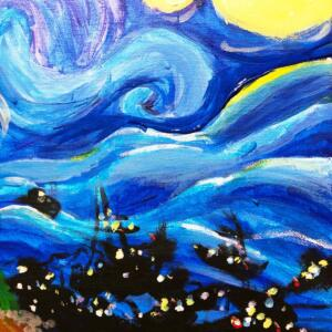 starry night over the sea #2
