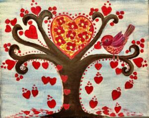 The love tree with a bird